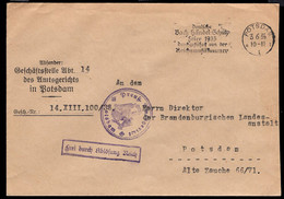 GERMANY (1935) Bach. Handel. Schutz. Cancel On Potsdam Free Mail. - Ohne Zuordnung