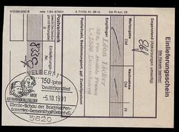 GERMANY (1991) Haydn. Hoffmann Von Fallersleben. Illustrated Cancel On Registered Mail Receipt. - Ohne Zuordnung