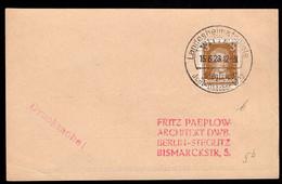 GERMANY (1928) Scene From Rheingold. Circular Cancel On Postal Card Reused As Postcard. Landesheimatspiele Siegfried. - Unclassified