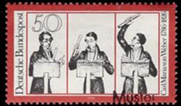 GERMANY (1976) Carl Maria Von Weber Conducting. MUSTER (specimen) Overprint. Scott No 1214. - Abarten