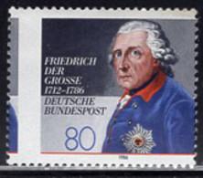 GERMANY (1986) Frederick The Great. Vertical Misperforation. Scott No 1469, Yvert No 1124. - Abarten