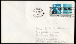 GREAT BRITAIN (1977) Musical Score. Illustrated Cancel On Envelope. Visit Staffa - See Fingal's Cave. - Poststempel