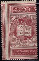 ITALY (1921) Dante's Divine Comedy. Misperforated Single. Scott No 133. - Ungebraucht