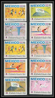 055 - Yemen Royaume MNH ** Mi N° 493 / 502 B Mexico 68 Jeux Olympiques (olympic Games) Non Dentelé (Imperf) Fencing - Summer 1968: Mexico City
