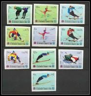 135 - Yemen Royaume MNH ** Mi N° 454 / 463 B Jeux Olympiques (olympic Games) Grenoble 68 Hockey Non Dentelé (Imperf) - Winter 1968: Grenoble