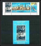 270d Sharjah MNH ** Mi N° 87 / 89 A + Bloc 8 World Exhibition Expo 1964 Statue De La Liberté Liberty New York Pretrol - Sharjah