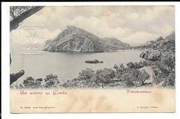 GREECE - POSTCARD A GREETING FROM CORFU - PALEOKASTRITSA - ΠΑΛΑΙΟΚΑΣΤΡΙΤΣΑ . - Grèce