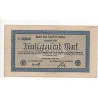 NOTGELD - AACHEN - 50.000 Mark - 1923 (A011) - [11] Local Banknote Issues