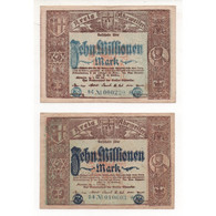 NOTGELD - AHRWEILER - 2 Notes 10 Millionen - Little Number - Color - 1923 (A021) - [11] Local Banknote Issues