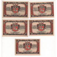 NOTGELD - ALBERSDORF Bad - 5 Notes - Without Star (A023) - [11] Local Banknote Issues
