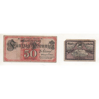 NOTGELD - ADORF - 2 Different Notes 50 Pfennig - 31/12/1918-1919 (A014) - [11] Local Banknote Issues