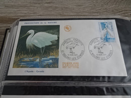 M11557-  FDc France 1974 - L'Aigrette - Cranes And Other Gruiformes