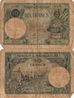 Madagascar / 10 Francs / 1937 / P-36(a) / FI - Madagascar