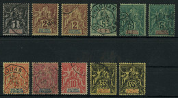 Sultanat D'Anjouan 1892-1907 Lot Of Used Stamps, Good Overall Condition, Total Yv. Cat. Value €154 - Gebraucht