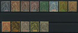 Mayotte 1892-1907 Lot Of Used Stamps, Very Good Overall Condition, Total Yv. Cat. Value €286 - Gebraucht