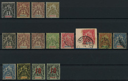 Moheli 1906-12 Lot Of Mint (mostly MH * Orig. Gum) And Used Stamps, Very Good Overall Condition, Yv. Cat. Value €80 - Gebraucht