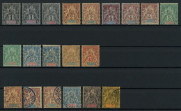 Diego-Suarez Et Dependances 1892 Lot Of Mint (mostly MH * Orig. Gum) And Used Stamps, Good Condition, Yv. Cat. Val. €216 - Ungebraucht