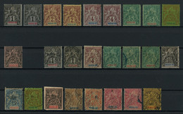 Nossi-Be 1894 Lot Of Mint (mostly MH * Orig. Gum) And Used Stamps, Good Overall Condition, Total Yv. Cat. Value €221 - Gebraucht