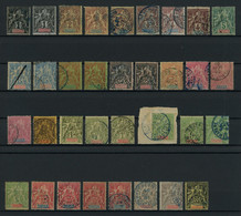 Madagascar 1896-1906 Lot Of Used Stamps, Very Good Overall Condition, Total Yv. Cat. Value €90 - Gebraucht