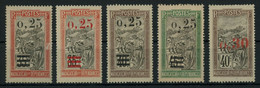 Madagascar 1921 Surcharged Issue Lot Of Stamps MH * Orig. Gum, Very Good Condition, Yv. 126-129, Cat. €44.5 - Ungebraucht