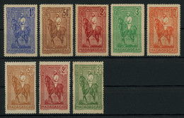 Madagascar 1931-36 Gallieni Issues Complete Sets Engraved All MH * Orig. Gum, Fault-free Condition, Yv. 183-187, 190-192 - Ungebraucht