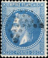 France - Yv.29B 20c Empire Lauré T.2 Position 096B2 (4è état) - Obl. Étoile) - TB- - 1863-1870 Napoleon III Gelauwerd