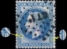 France - Yv.29B 20c Empire Lauré T.2 Position 002B2 (2è état) - Obl. Losange CT 1° (Ambulant Cette à Tarascon) - TB - 1863-1870 Napoleon III Gelauwerd