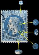 France - Yv.29B 20c Empire Lauré T.2 Position 011A2 (4è état) - Obl. GC - TB - 1863-1870 Napoleon III Gelauwerd