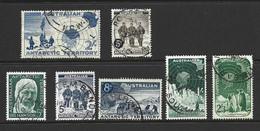 Australian Antarctic Territory AAT 1957 - 1961 Pre-decimals Complete (7) FU , Fuller Cds - Used Stamps