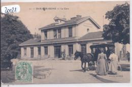 BAR-SUR-SEINE- LA GARE- LE TAXI HIPPOMOBILE - Bar-sur-Seine