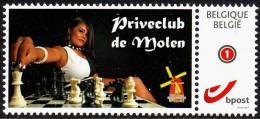 Schach Chess Schaken - Belgien Belgium - Priveclub De Molen - MiNr 4238 - Sellos Privados