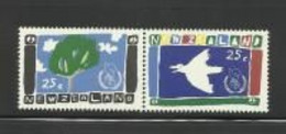 NEW ZEALAND 1986 Year Of Peace Pair MUH - Unused Stamps