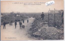 LENS- RUINES DU BOULEVARD - Lens