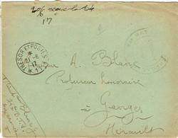 ESC Pour Ganges (34) - 20 Juin 1917 - CAD Secteur Postal SP 11 - 74ème Bataillon Tirailleurs Sénégalais - Guerre 14-18 - Oorlog 1914-18