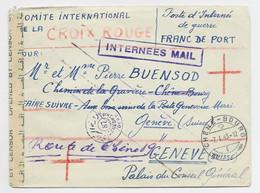 LETTRE POSTE INTERNES DE GUERRE GERMAN INTERNEE CAMP BOULAC CAIRO EGYPT TO SUISSE + CENSURE + INTERNEES MAIL - Guerre De 1939-45
