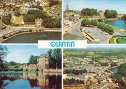 22 Quintin L'Etang Le Château Des Ducs De Lorge Et Le Centre Jean XXIII (carte Vierge) - Quintin