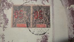Sur CP : Paire D'allegorie 05/25 Sultanat D'ANJOUAN  ............... 210714-5332 - Lettres & Documents