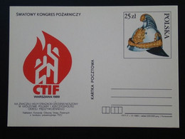 Entier Postal Stationery Card Pompiers Firefighter Truck Pologne Poland Ref 66721 - Entiers Postaux