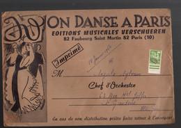 """Paris 10e Fb St Martin : Enveloppe ON DANSE A PARIS 1960 Avec Préoblitéré """"coq"""" 20f    (M2264) - 1921-1960: Periodo Moderno"""