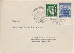 762 Tag Der Briefmarke Postillion Auf FDC Mit ESSt DÜSSELDORF 12.1.1941 - Unclassified