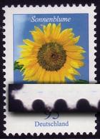 2434 Blume 95 Cent Mit Druckfehler Blauer Strich LINKS, Mit Zählnummer ** - Roulettes