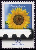 2434 Blume 95 Cent Mit Druckfehler Blauer Strich RECHTS, Mit Zählnummer ** - Roulettes