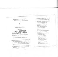 -  Rijkswachter J.MEERT °MALDEREN 1921 +1996 (M.VEREEKEN) - Images Religieuses
