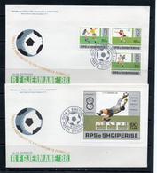 SOCCER- ALBANIA - 1988 - EURO FOOTBALL SET OF 3 + S/SHEET ON ILLUSTRATED FDCS, SELDOM OFFERED - Eurocopa (UEFA)