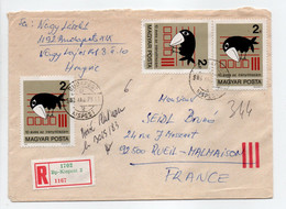 - Lettre Recommandée KISPEST (Hongrie) Pour RUEIL-MALMAISON (France) 23.5.1983 - Bel Affranchissement Philatélique R/V - - Lettres & Documents