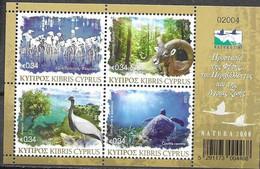 CYPRUS, 2021, MNH, NATURA, BIRDS, FLAMINGOES, TURTLES, WILD SHEEP, SHEETLET - Sonstige