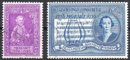 CONGO BELGE - N° 339/340 (oblitérés / Used) - 1956 - Mozart - 1947-60: Gebraucht