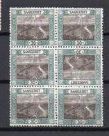 - SARRE N° 57c Neufs **/* - 6 X 30 P. Vert Et Brun Grande Boucle 1921 - TETE-BECHE ** AU CENTRE - Cote 50 EUR - - Nuevos
