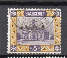 - ALLEMAGNE / SARRE N° 66 Oblitéré - 5 M. Violet Et Jaune - Cote 35 EUR - - Oblitérés