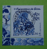 FRANCE 2021   FAIENCERIE  DE  GIEN   CACHET ROND   DATE - Used Stamps